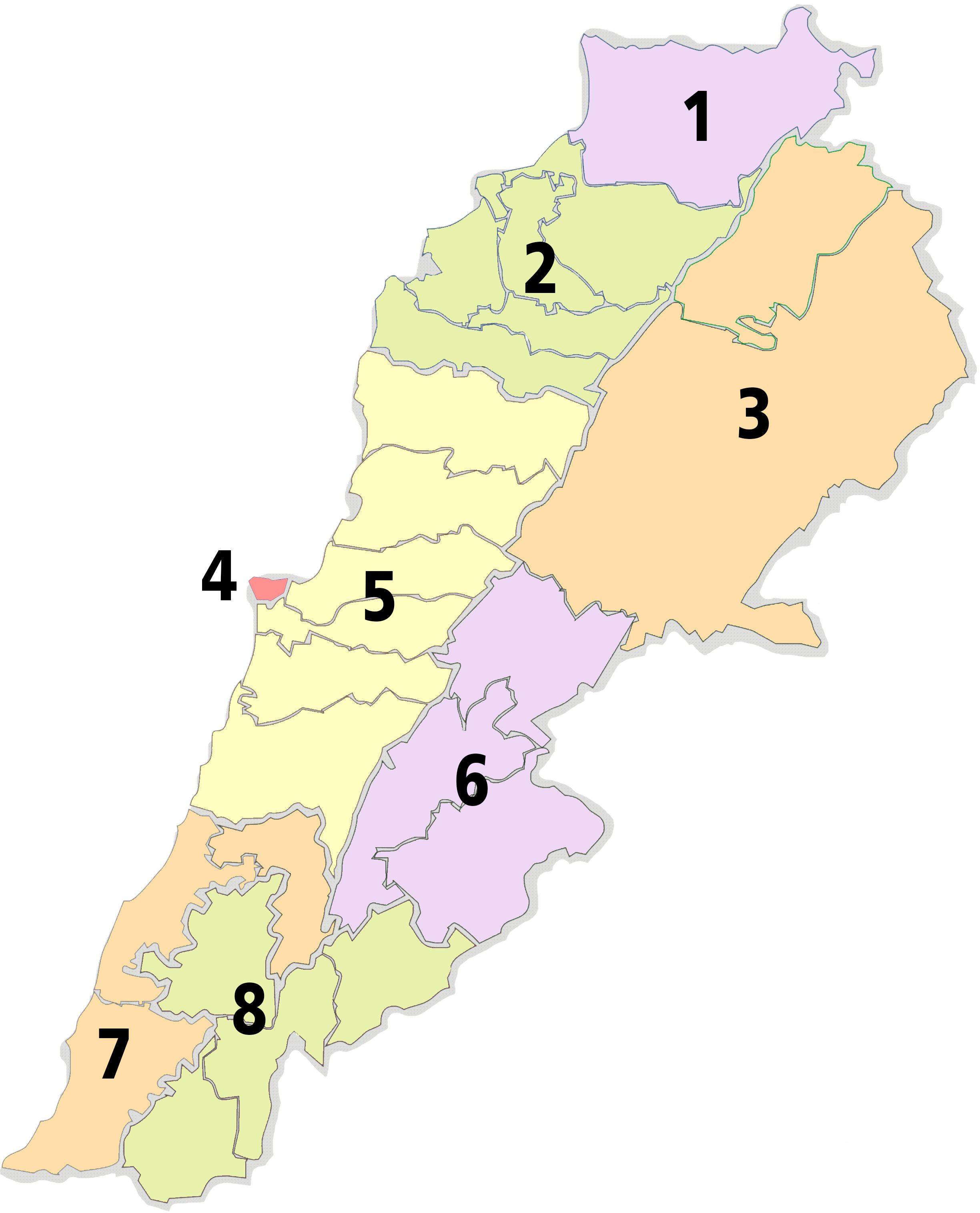 Administrative Divisions Of Lebanon Lebanese Arabic Institute